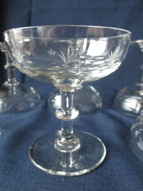 6 anciennes coupes a champagne en verre souffle taille ebay - Coordonnees mondial relay ...